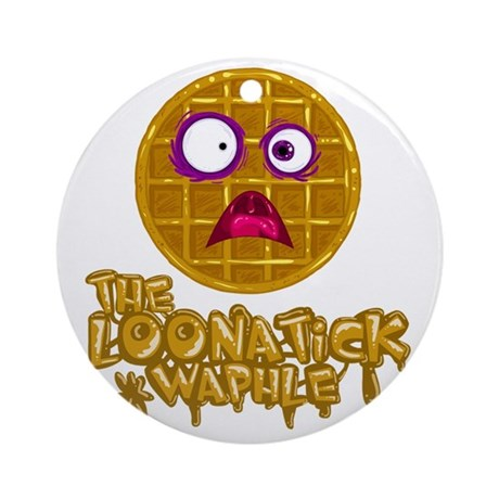 Loonatick Waphle Logo (Combined) Round Ornament