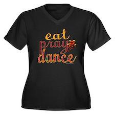 eat pray dan Women's Plus Size Dark V-Neck T-Shirt