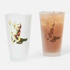 fetch-poodle Drinking Glass