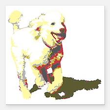 """fetch-poodle Square Car Magnet 3"""" x 3"""""""