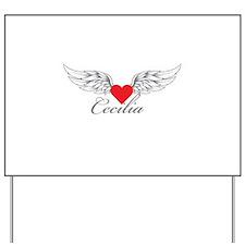 Angel Wings Cecilia Yard Sign