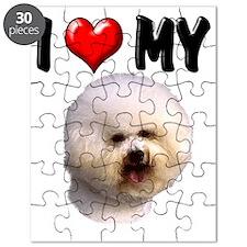 I Love My Bichon Frise Puzzle