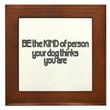 Be Kind Framed Tile