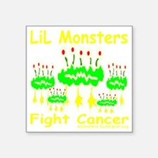 "LiL_Monsters_transparent Square Sticker 3"" x 3"""