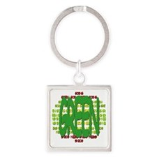 GoingGreen-TranspBkgd Square Keychain