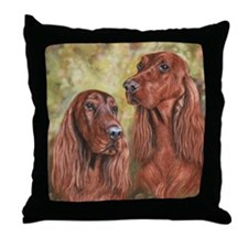 Irish Setter_CB Throw Pillow