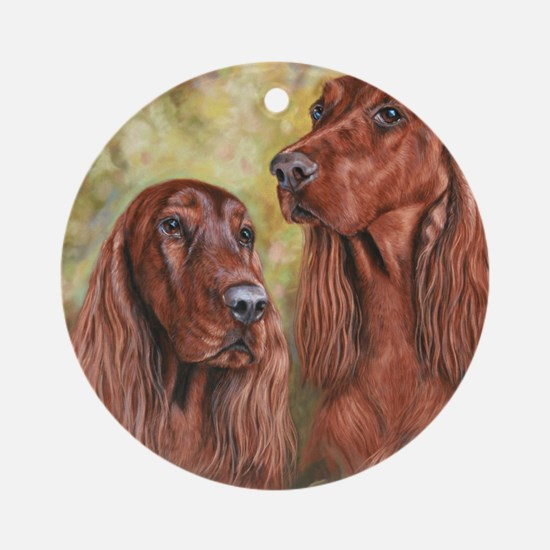 Irish Setter_CB Round Ornament