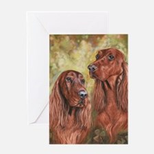 Irish Setter_CB Greeting Card
