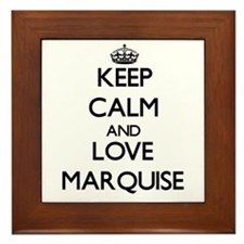 Keep Calm and Love Marquise Framed Tile