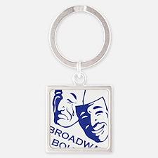 bb_new_blue Square Keychain