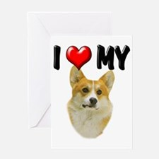 I Love My Corgi Greeting Card
