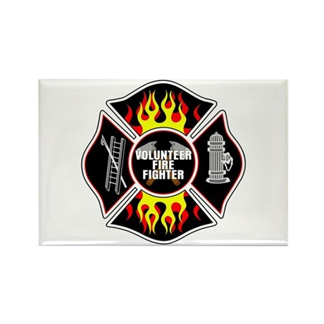 Volunteer Fire Dept Rectangle Magnet