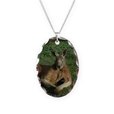 Kangaroo Necklace Oval Charm