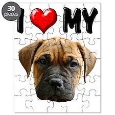 I Love My Bull Mastiff Puzzle