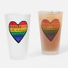 ISupportGayRights Drinking Glass