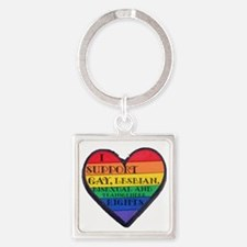 ISupportGayRights Square Keychain