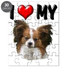 I Love My Papillion Puzzle