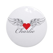 Angel Wings Charlie Ornament (Round)