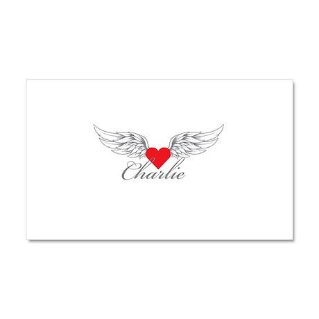 Angel Wings Charlie Car Magnet 20 x 12