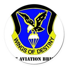 101ST AVIATION BDE  WITH TEXT Round Car Magnet