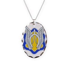 17TH CAVALRY RGT Necklace Oval Charm