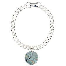 night swim  Charm Bracelet, One Charm