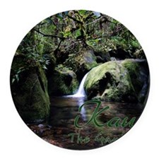 Kauai_Cover Round Car Magnet