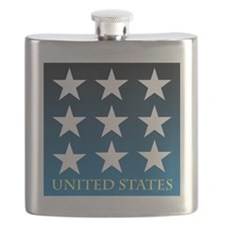 US9StarsTShirt2 Flask