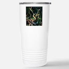 monogram freely selectable, flameart Travel Mug