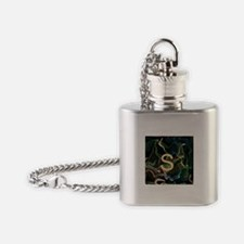 monogram freely selectable, flameart Flask Necklac