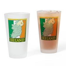 IrelandMapTShirt2 Drinking Glass