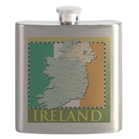 IrelandMapTShirt2 Flask
