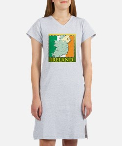 IrelandMapTShirt2 Women's Nightshirt