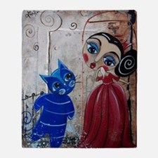 FRANKLY MY DEAR - Blue CAt Series -  Throw Blanket