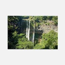 Chamarel Falls Mauritius Cal Rectangle Magnet