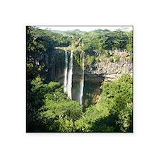 """Chamarel Falls Mauritius Ca Square Sticker 3"""" x 3"""""""