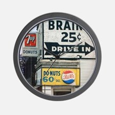 BRAINS 12x13.6 Wall Clock