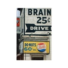 BRAINS 12x13.6 Rectangle Magnet