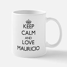 Keep Calm and Love Mauricio Mugs