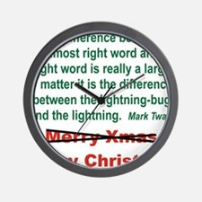 THE DIFFERENCE BETWEEN THE ALMOST RIGHT Wall Clock