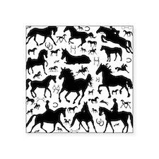 "horsesmix Square Sticker 3"" x 3"""