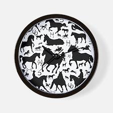 horsesmix Wall Clock