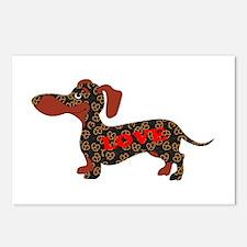 Pretzel Love Pup Postcards (Package of 8)