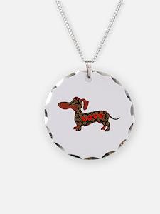 Pretzel Love Pup Necklace