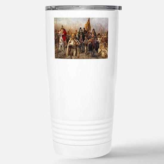 migrationsmallposter Stainless Steel Travel Mug