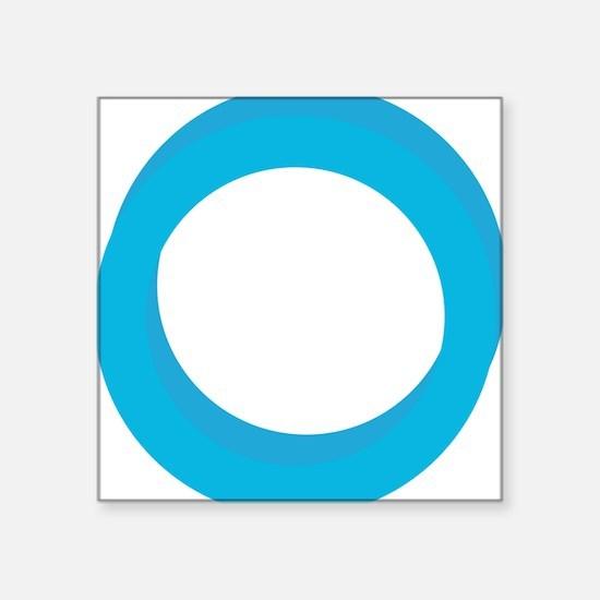 "O Square Sticker 3"" x 3"""
