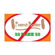 Peanut Free 5x3oval_sticker Rectangle Car Magnet