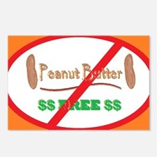 Peanut Free 5x3oval_stick Postcards (Package of 8)