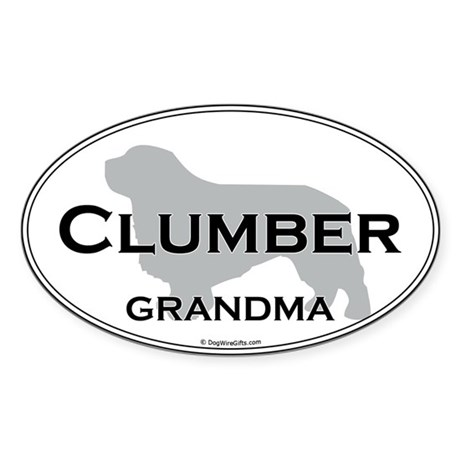 Clumber GRANDMA Oval Sticker
