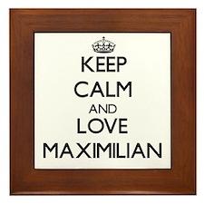 Keep Calm and Love Maximilian Framed Tile